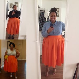 Wide Midi Skirt
